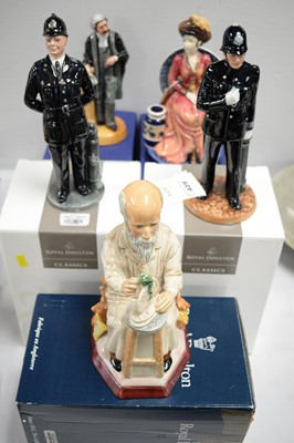 Lot 429 - Ceramic figures and character jug, boxed.