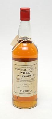 Lot 23 - 'As We Get It' Pure Malt Scotch Whisky