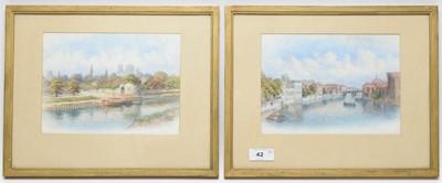 Lot 42 - George Fall - watercolours.