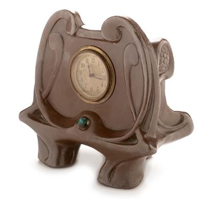 Lot 759 - Bretby art nouveau mantel clock