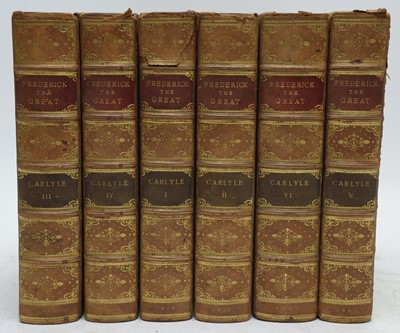 Lot 39 - Carlyle (Thomas) History of Frederick The Great of Prussia.