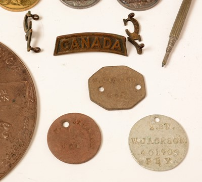 Lot 1015 - Two brothers WW1 medal groups with commemoration plaques