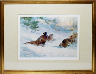 Lot 266 - After Archibald Thorburn - coloured print