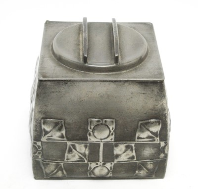 Lot 789 - Archibald Knox for Liberty & Co., London: a pewter 'Tudric' tea caddy and cover