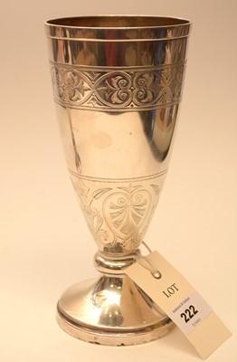Lot 222 - A Victorian silver vase