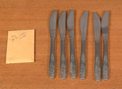 Lot 768 - A near-complete mid 20th Century stainless steel cutlery and flatware service.