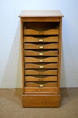 Lot 75 - 20th Century oak folio cabinet