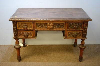 Lot 53 - Victorian oak desk