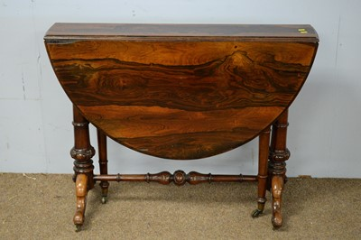 Lot 35 - Victorian rosewood Sutherland table.