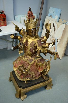 Lot 321 - Large repro Asian figure of a female deity.