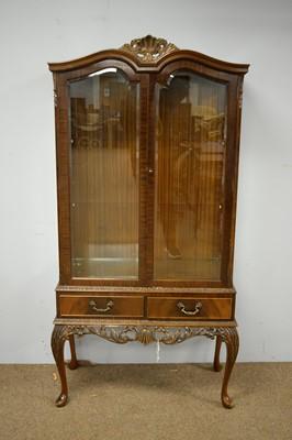 Lot 2 - Mid 20th C mahogany display cabinet.