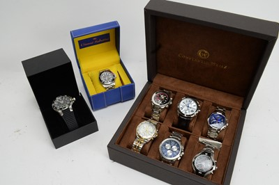 Lot 227 - A selection of gent's dress watches.