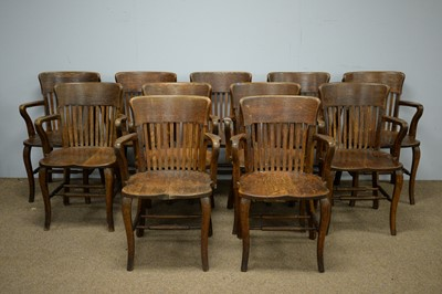 Lot 70 - Eleven early 20th C elbow chairs.