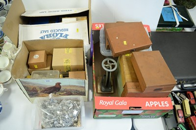 Lot 276 - Boxes of watch parts and watch glasses, various.
