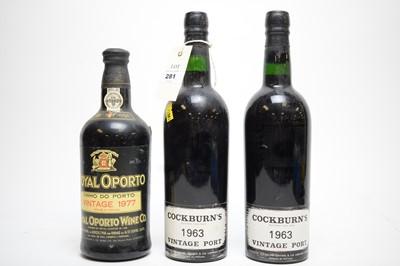 Lot 281 - Three bottles of Port.