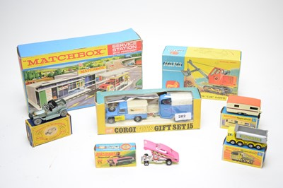 Lot 282 - Matchbox and Corgi toys.