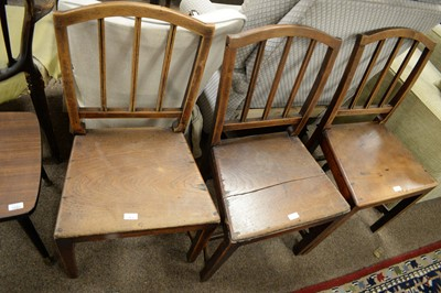 Lot 53A - Three Georgian dining chairs.