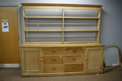 Lot 125 - Victorian stripped pine dresser.
