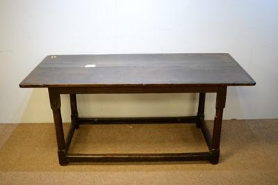 Lot 87 - Victorian oak refectory table