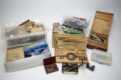 Lot 322 - Small quantity of watchmaking equipment.