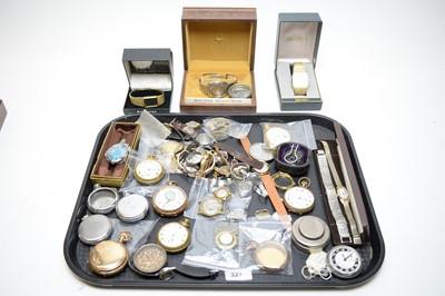 Lot 327 - Quantity of pocket watch and wristwatch cases, and parts.