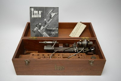 Lot 334 - IME precision watchmaker's lathe, boxed.