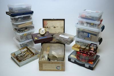 Lot 338 - A quantity of watch parts.