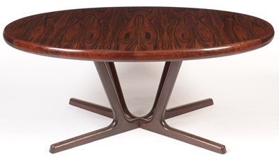 Lot 48 - Interform Collection: a Danish rosewood extending dining table.