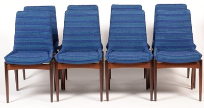 Lot 49 - Robert Heritage for Archie Shine: a set of eight rosewood 'Hamilton' dining chairs