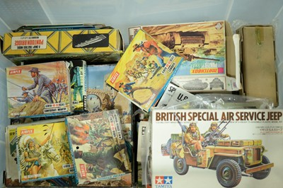 Lot 459 - Box of miscellaneous Airfix and other kits.