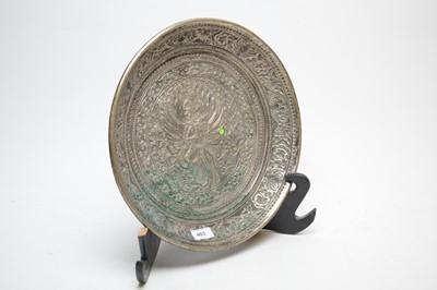 Lot 403 - Asian circular plaque.