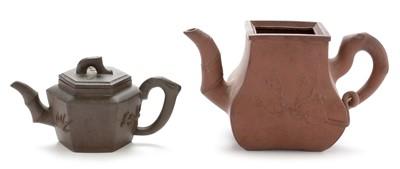Lot 414 - Two Chinese YiXing teapots