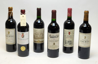 Lot 34 - Six mixed bottles of wine.