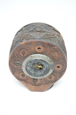 Lot 770 - An aneroid barometer set into the wooden propeller boss from an F.E.2b WWI aeroplane.