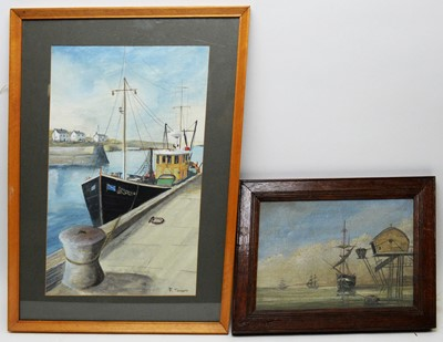 Lot 293 - Fred Tordoff - watercolour and an oil on canvas