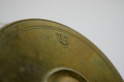 Lot 774 - A brass fishing reel.