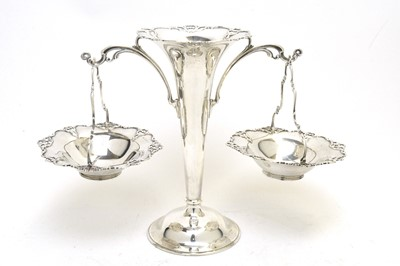 Lot 163 - A George V silver epergne.