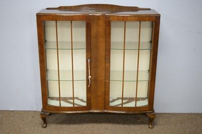 Lot 52 - Art Deco walnut display cabinet