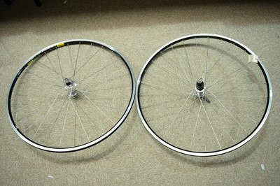 Lot 723 - A pair of road bike wheels.