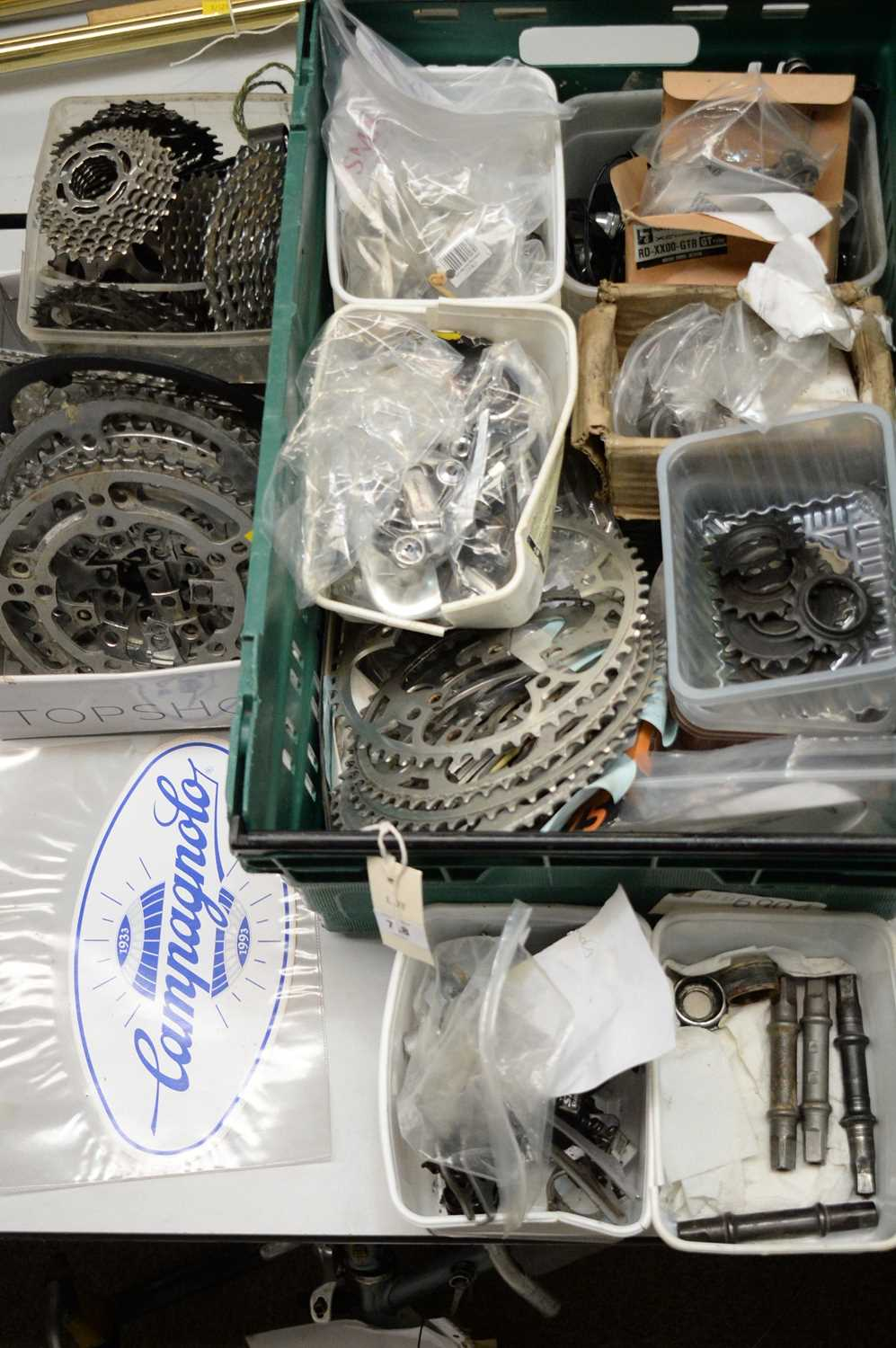 Lot 728 - Road and mountain bike chainrings, and miscellaneous items.