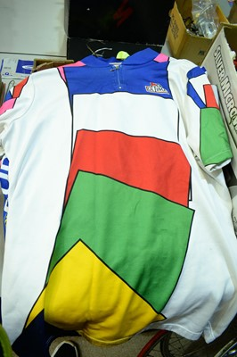 Lot 735 - Cycling jerseys and other cycle clothing.