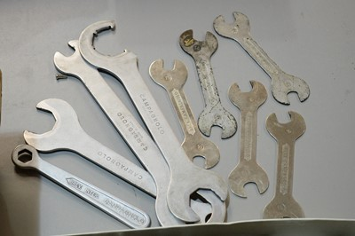 Lot 736 - Campagnolo spanners and other bicycle maintenance tools.