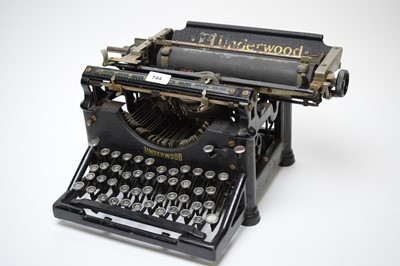 Lot 744 - A vintage Underwood office typewriter.