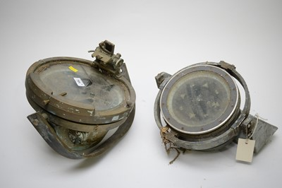 Lot 751 - Two ship's compasses.