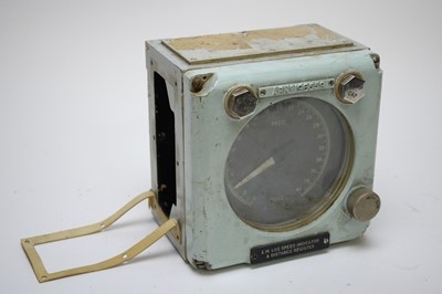 Lot 758 - A ship's EM log speed indicator and distance register.