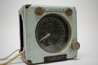 Lot 758 - A ship's EM log speed indicator and distance register.