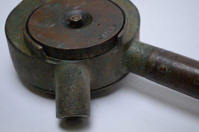 Lot 759 - A nautical cable measuring assembly.