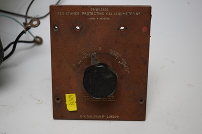 Lot 766 - A large voltmeter; a resistance protecting galvanometer; and an inductor.