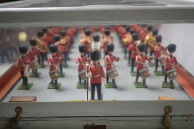 """Lot 783 - William Britain's """"Eyes Right"""" 54mm plastic Grenadier Guards band."""