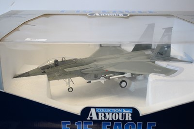 Lot 791 - Collection Armour 1:48 Scale metal diecast aeroplanes - F15 Eagle.